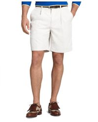 Brooks Brothers | Natural St Andrews Links Pleat-front Shorts for Men | Lyst