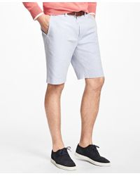 Brooks Brothers | Blue Non-iron Supima® Cotton Oxford Bermuda Shorts for Men | Lyst