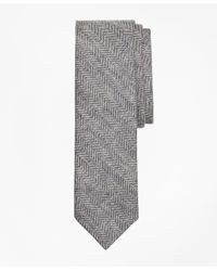 Brooks Brothers | Gray Herringbone Linen Tie for Men | Lyst