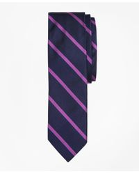 Brooks Brothers   Purple Bb#3 Rep Slim Tie for Men   Lyst