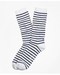 Brooks Brothers | Blue Stripe Crew Socks for Men | Lyst