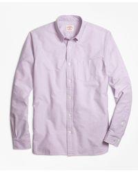 Brooks Brothers   Purple Supima® Cotton Oxford Sport Shirt for Men   Lyst