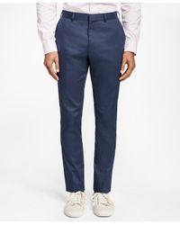 Brooks Brothers Blue Slim-fit Pincord Trousers for men