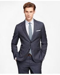 Brooks Brothers | Blue Mini Check Suit Jacket | Lyst