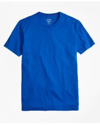 Brooks Brothers | Blue Garment-dyed Jersey-knit Tee Shirt for Men | Lyst