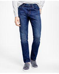 Brooks Brothers   Blue 901 Slim Straight Stretch Jeans In Indigo   Lyst