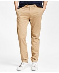 Brooks Brothers | Natural Slim Fit Garment-dyed Chinos for Men | Lyst