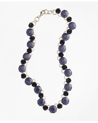 Brooks Brothers | Metallic Rose And Stone Necklace | Lyst