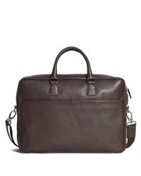 Brooks Brothers | Brown Pebble Leather Slim Briefcase for Men | Lyst