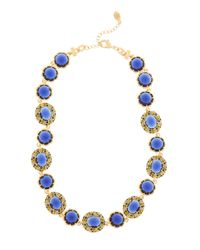 Brooks Brothers - Blue Crystal Stone Illusion Necklace - Lyst