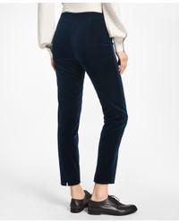 Brooks Brothers - Blue Slim-fit Velveteen Pants - Lyst