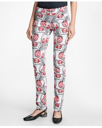 Brooks Brothers | Red Stretch-cotton Tulip Printed Five-pocket Pants | Lyst