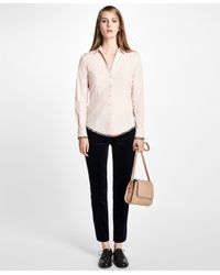 Brooks Brothers - Pink Fitted Medallion Hem Dress Shirt - Lyst