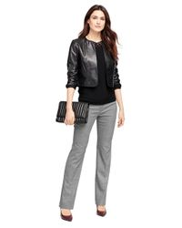 Brooks Brothers Black Leather Jacket