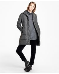 Brooks Brothers   Gray Water-resistant Quilted Down Coat   Lyst