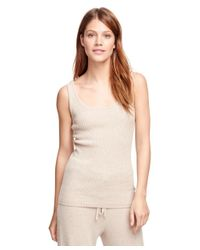 Brooks Brothers | Natural Cashmere Sleeveless Ribbed Shell | Lyst
