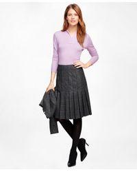 Brooks Brothers - Purple Shawl Collar Sweater - Lyst
