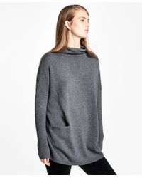 Brooks Brothers | Gray Wool-cashmere Mockneck Sweater | Lyst
