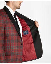 Brooks Brothers - Red Regent Fit Tartan Tuxedo Jacket for Men - Lyst