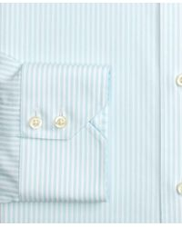 Brooks Brothers - Blue Madison Classic-fit Dress Shirt, Non-iron Stripe for Men - Lyst