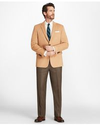 Brooks Brothers Natural Regent Fit Camel Hair Sport Coat for men