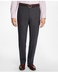 Brooks Brothers Gray Madison Fit Brookscool® Houndstooth Trousers for men