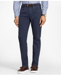 Brooks Brothers Blue Garment-dyed Cotton Canvas Jeans for men