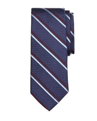 Brooks Brothers | Blue Alternating Double Stripe Tie for Men | Lyst