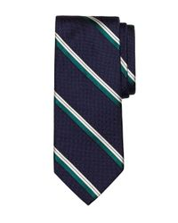 Brooks Brothers - Blue Parquet Stripe Tie for Men - Lyst