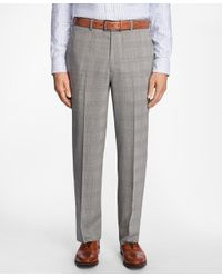 Brooks Brothers Multicolor Madison Fit Brookscool® Glen Plaid Trousers for men