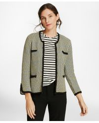 Brooks Brothers - Multicolor Checked Cotton Sweater Jacket - Lyst
