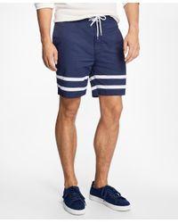 Brooks Brothers - Blue Hybrid Stripe Swim Trunks for Men - Lyst
