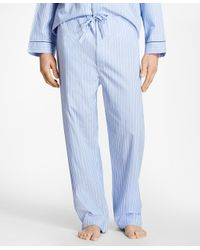Brooks Brothers - Blue Bold Stripe Pajamas for Men - Lyst