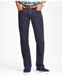 Brooks Brothers - Blue Garment-dyed 15-wale Stretch Corduroy Pants for Men - Lyst