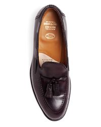 Brooks Brothers Purple Cordovan Tassel Loafers for men