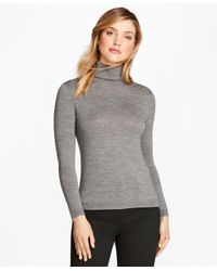 Brooks Brothers - Gray Saxxontm Wool Turtleneck Sweater - Lyst