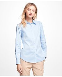 Brooks Brothers - Blue Petite Non-iron Fitted Dress Shirt - Lyst