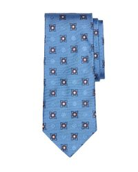 Brooks Brothers - Blue Large Spaced Medallion Tie for Men - Lyst