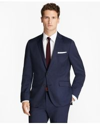 Brooks Brothers - Blue Alternating Pinstripe Wool Suit Jacket for Men - Lyst