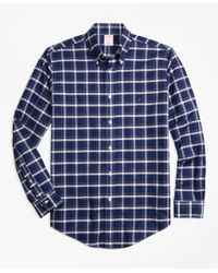 Brooks Brothers   Blue Non-iron Madison Fit Check Sport Shirt for Men   Lyst