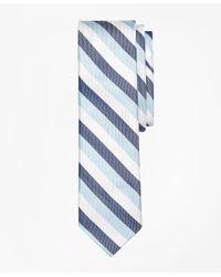 Brooks Brothers - Blue Tri-tone Stripe Silk Tie for Men - Lyst