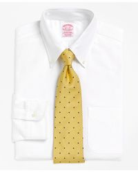 Brooks Brothers White Traditional Relaxed-fit Dress Shirt, Button-down Collar for men