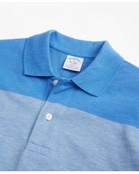 Brooks Brothers - Blue Original Fit Supima® Cotton Large Stripe Polo Shirt for Men - Lyst