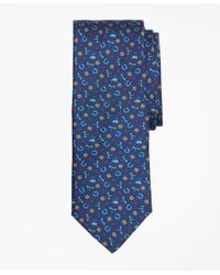 Brooks Brothers Blue Lucky Motif Print Tie for men