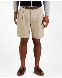 Brooks Brothers - Natural Pleat-front Lightweight Advantage Shorts for Men - Lyst