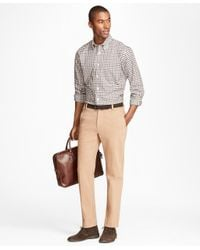 Brooks Brothers | Multicolor Milano Fit Brushed Twill With Stretch Chinos for Men | Lyst