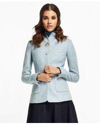 Brooks Brothers - Blue Herringbone Wool Jacket - Lyst