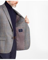 Brooks Brothers - Gray Madison Fit Plaid With Deco Sport Coat for Men - Lyst
