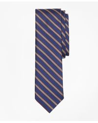 Brooks Brothers - Blue Striped Silk Rep Tie for Men - Lyst