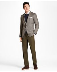 Brooks Brothers - Green Clark Fit Supima® Cotton Stretch Chinos for Men - Lyst